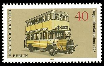 40 Pf Briefmarke: Berliner Omnibusse