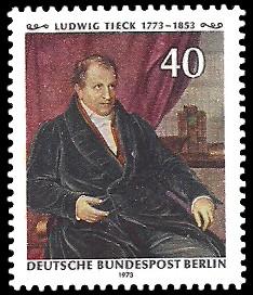 40 Pf Briefmarke: 200. Geburtstag Ludwig Tieck