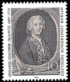 40 Pf Briefmarke: 200. Todestag Johann Joachim Quantz