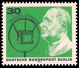 50 Jahre Deutscher Rundfunk Briefmarke Berlin