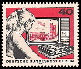 40 Pf Briefmarke: 50 Jahre Deutscher Rundfunk