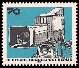 70 Pf Briefmarke: 50 Jahre Deutscher Rundfunk