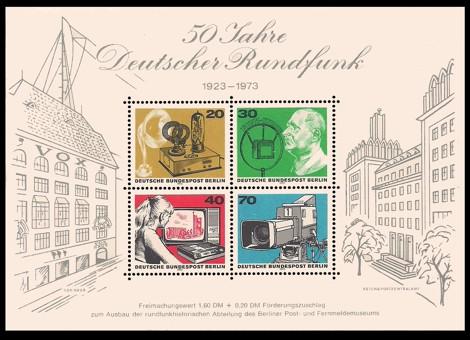 1,80 DM Briefmarke: Block - 50 Jahre Deutscher Rundfunk