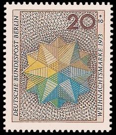 20 + 10 Pf Briefmarke: Weihnachtsmarke 1973
