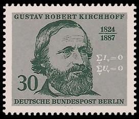30 Pf Briefmarke: 150. Geburtstag Gustav Robert Kirchhoff