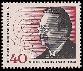 40 Pf Briefmarke: 125. Geburtstag Adolf Slaby