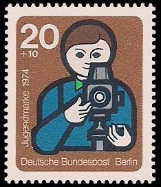 20 + 10 Pf Briefmarke: Jugendmarke 1974