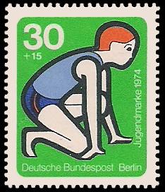 30 + 15 Pf Briefmarke: Jugendmarke 1974