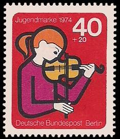 40 + 20 Pf Briefmarke: Jugendmarke 1974
