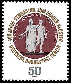 50 Pf Briefmarke: 400 Jahre Gymnasium zum Grauen Kloster