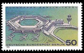 50 Pf Briefmarke: Flughafen Berlin-Tegel
