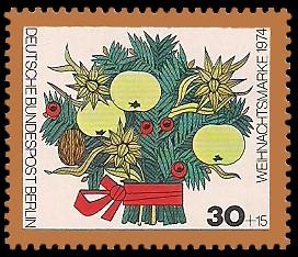 30 + 15 Pf Briefmarke: Weihnachtsmarke 1974
