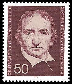 50 Pf Briefmarke: 125. Todestag Johann Gottfried Schadow