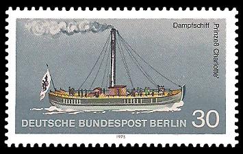 30 Pf Briefmarke: Personenschifffahrt