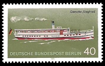 40 Pf Briefmarke: Personenschifffahrt