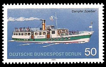 50 Pf Briefmarke: Personenschifffahrt