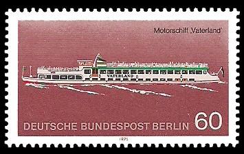60 Pf Briefmarke: Personenschifffahrt