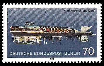70 Pf Briefmarke: Personenschifffahrt