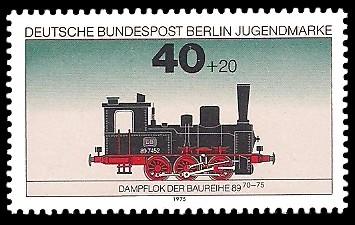 40 + 20 Pf Briefmarke: Jugendmarke 1975, Lokomotiven
