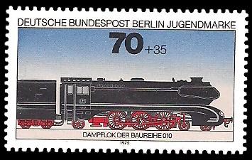 70 + 35 Pf Briefmarke: Jugendmarke 1975, Lokomotiven
