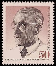 50 Pf Briefmarke: 100. Geburtstag Ferdinand Sauerbruch