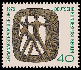 40 Pf Briefmarke: Gymnaestrada Berlin