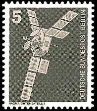 5 Pf Briefmarke: Industrie und Technik