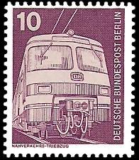 10 Pf Briefmarke: Industrie und Technik