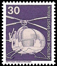 30 Pf Briefmarke: Industrie und Technik