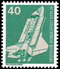 40 Pf Briefmarke: Industrie und Technik