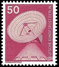50 Pf Briefmarke: Industrie und Technik