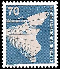 70 Pf Briefmarke: Industrie und Technik