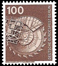 100 Pf Briefmarke: Industrie und Technik