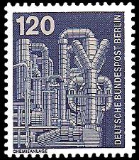 120 Pf Briefmarke: Industrie und Technik