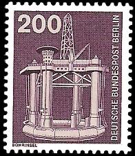 200 Pf Briefmarke: Industrie und Technik