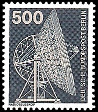 500 Pf Briefmarke: Industrie und Technik