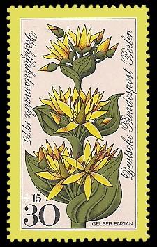 30 + 15 Pf Briefmarke: Wohlfahrtsmarke 1975, Alpenblumen