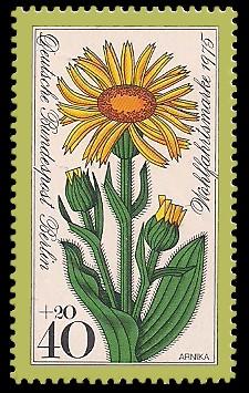 40 + 20 Pf Briefmarke: Wohlfahrtsmarke 1975, Alpenblumen