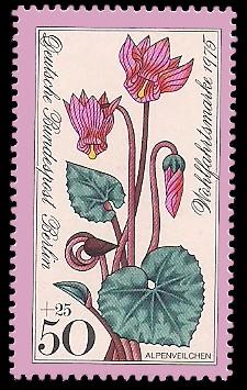 50 + 25 Pf Briefmarke: Wohlfahrtsmarke 1975, Alpenblumen