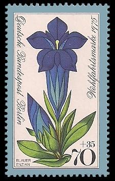 70 + 35 Pf Briefmarke: Wohlfahrtsmarke 1975, Alpenblumen