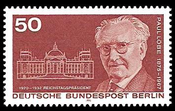50 Pf Briefmarke: 100. Geburtstag Paul Löbe