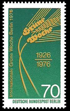 70 Pf Briefmarke: 50 Jahre Grüne Woche Berlin