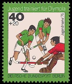 40 + 20 Pf Briefmarke: Jugendmarke 1976, Jugend trainiert für Olympia