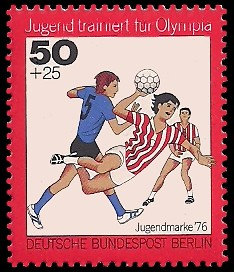 50 + 25 Pf Briefmarke: Jugendmarke 1976, Jugend trainiert für Olympia