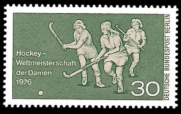 30 Pf Briefmarke: Hockeyweltmeisterschaft Damen