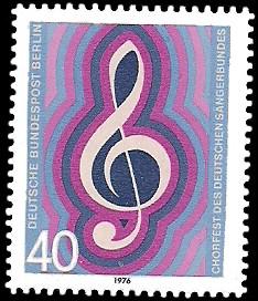 40 Pf Briefmarke: Chorfest des Deutschen Sängerbundes