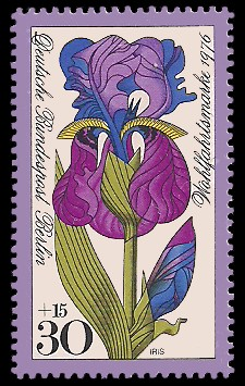 30 + 15 Pf Briefmarke: Wohlfahrtsmarke 1976, Gartenblumen