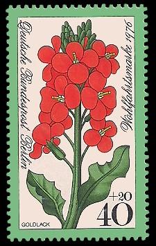 40 + 20 Pf Briefmarke: Wohlfahrtsmarke 1976, Gartenblumen
