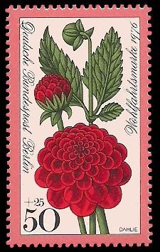 50 + 25 Pf Briefmarke: Wohlfahrtsmarke 1976, Gartenblumen