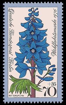 70 + 35 Pf Briefmarke: Wohlfahrtsmarke 1976, Gartenblumen